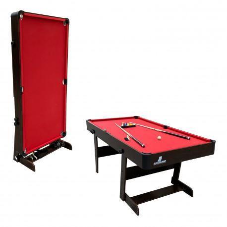 Hustle XL opklapbare Pooltafel hout/rood