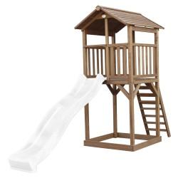 Beach Tower Speeltoren Bruin - Witte Glijbaan