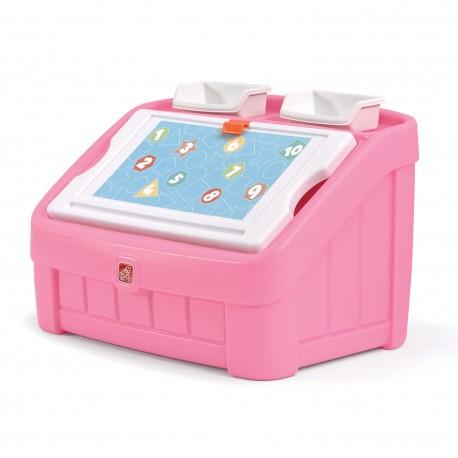 2-in1 Speelgoedbox & Tekenbord