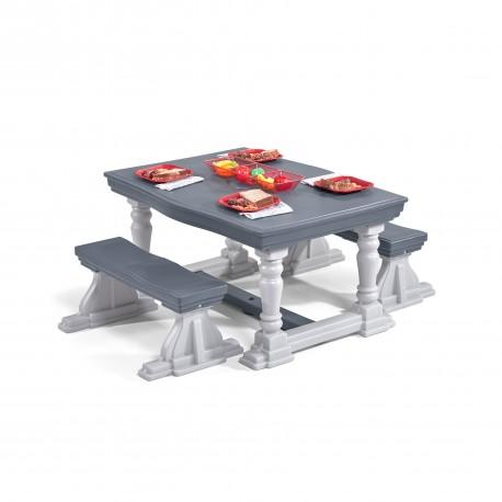 3 Piece Farmhouse Table & Bench Set