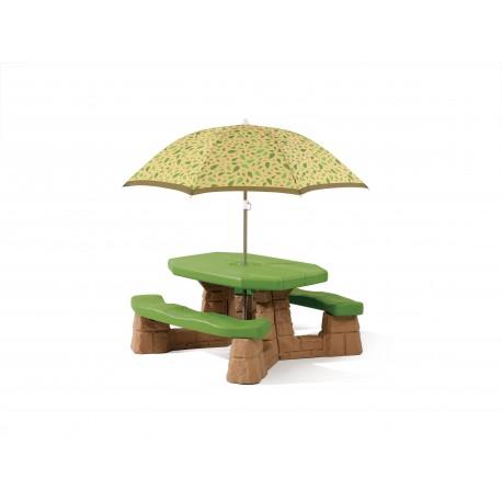 Picknicktafel met parasol