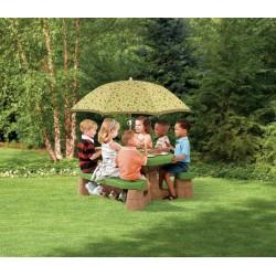 Picknicktisch mit Sonnenschirm