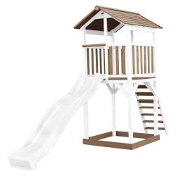 Beach Tower Speeltoren Bruin/wit - Witte Glijbaan